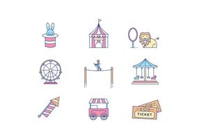 Funfair Icons vector