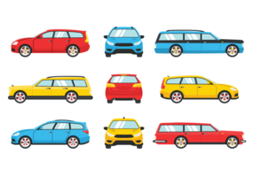 Station Wagon Icons Vektor