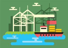 Shipyard Vector Illustration