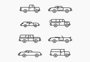 Outlined Cars vector