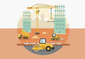 Flache Baustellenvektoren