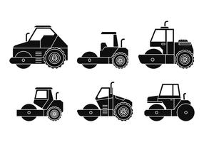 Steamroller vector set