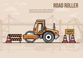 Road Roller Vecetor Illustratie