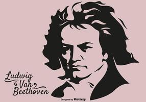 Vettore del musicista Ludwig Van Beethoven