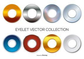 Assortiment eyelets vector collectie