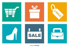 Shopping Icon Sammlung