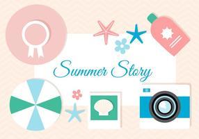 Summer Story di Design piatto vettoriale gratuito