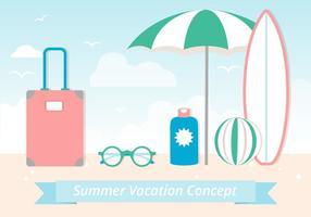 Elementos de Verão de Vector Flat Design Gratuito
