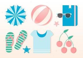Free Flat Vector Vector Summer Elements