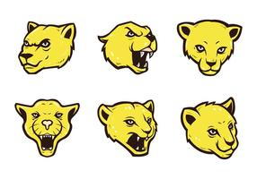Gratis Cougars Mascot Vector