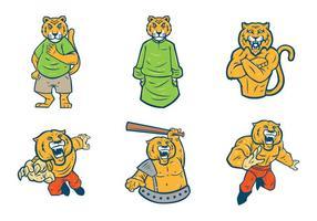Vector libre de la mascota de los tigres