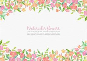Free-vector-watercolor-pink-floral-card-for-wedding