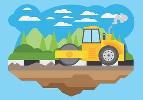 Steamroller Vector Background