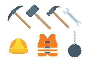 Iconos del vector de demolición