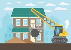 Fondo del vector de la demolición