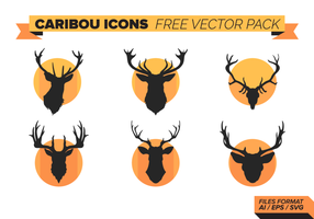 Caribou Icons Vector Pack