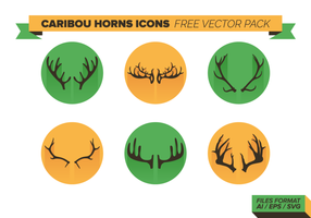 Caribou Horns Icons Free Vector Pack