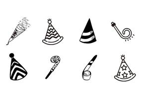 Free Hand Drawn Party or Celebration Objects Vector