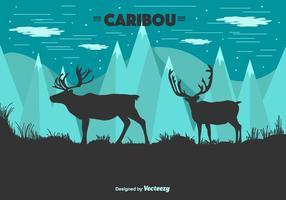Caribou Vector Bakgrund