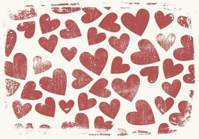 Grunge Style Hearts Background vector