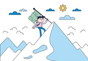 Vecteur de grimpeur gratuit