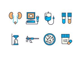 Free Urology Icons vector