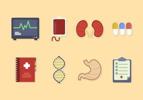 Flache medizinische Vektoren