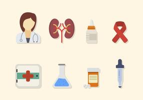 Vecteurs médicaux plats