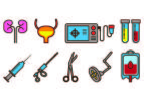 Set Of Urology Icons