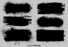 Conjunto de modelos de pintura preta do vetor
