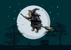 Scary Befana Illustration
