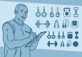 Fitness Weightlifting Icons