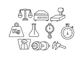 Free Measuring Tools Line Icon Vector