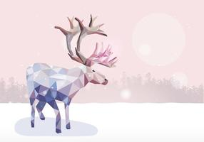 Caribou low poly illustration vector