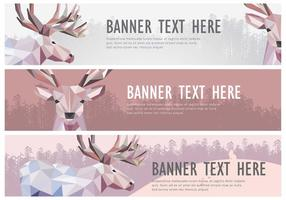 Web Banner Caribou vettoriale