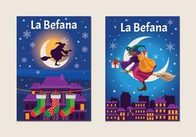 Befana with Lots of Gifts vector