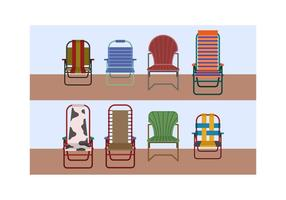 Gratis Lawn Chair Vector Set