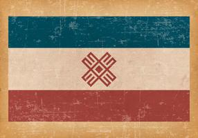 Grunge Flagga av Mari El