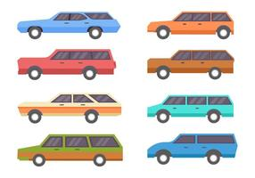 Gratis Vintage Station Wagon Vector