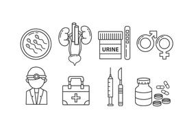 Urología Icon Set