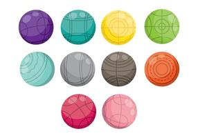 Bocce Icons vector