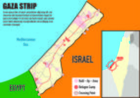 Gaza Map Infographic vector