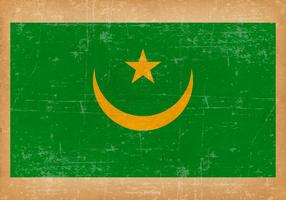 Drapeau grunge de la Mauritanie