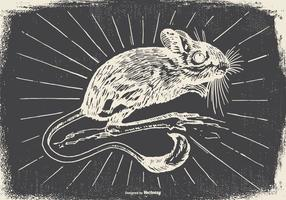Vintage Gerbil Illustration