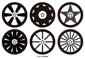 Alloy Wheel Vector Shapes