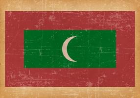 Grunge Flag of Maldives