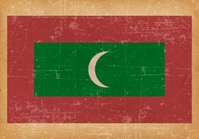 Drapeau grunge des Maldives