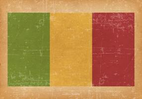Drapeau grunge du Mali