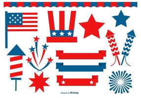 Fourth of July Design Elements Collection vector
