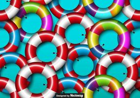 Vector Colorido Seamless Inner Tube Icono Seamless Pattern